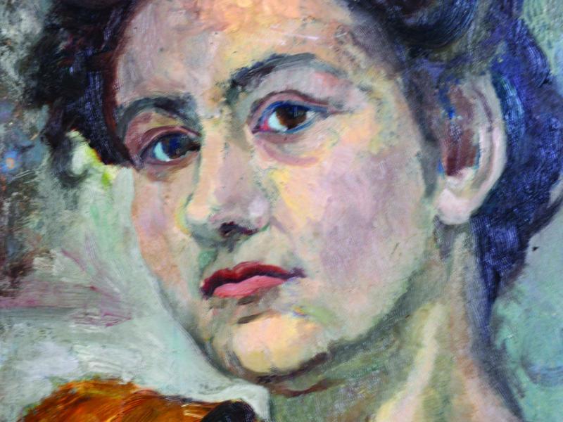 Tadeusz Znicz-Muszyński, Portret Giovanny, ok. 1946, ol., tekt., wł. pryw., fot., J.W. Sienkiewicz