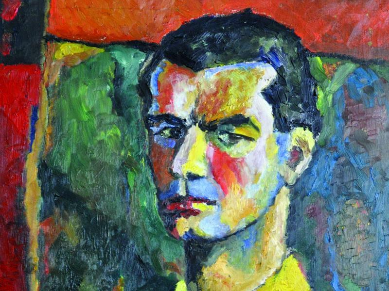 Witold Schejbal, Autoportret, ol., pł., 1952, wł. pryw., fot. J.W. Sienkiewicz