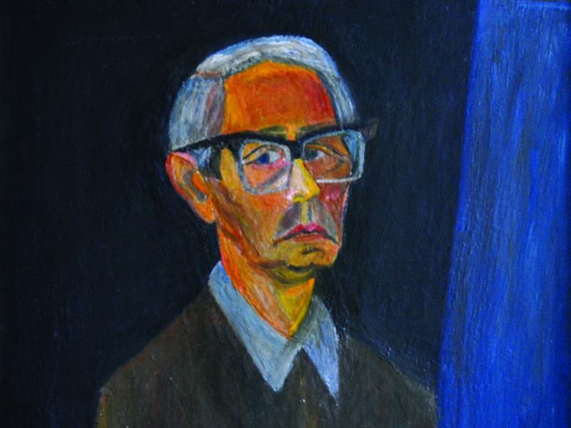 38. Tadeusz Ilnicki, Autoportret, ol. pł., ok. 1970, wł. pryw., fot. JWS