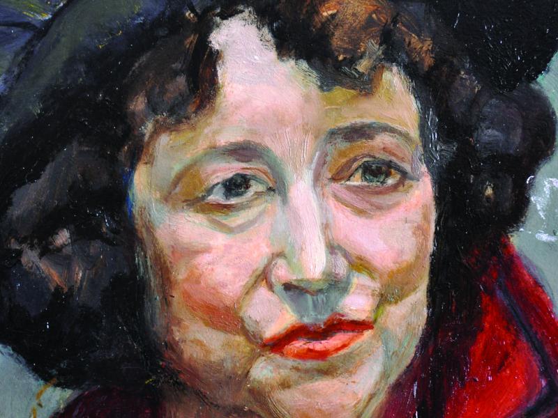 Tadeusz Znicz-Muszyński, Portret żony, ol., tekt, ok. 1948, wł. pryw., fot. J.W. Sienkiewicz