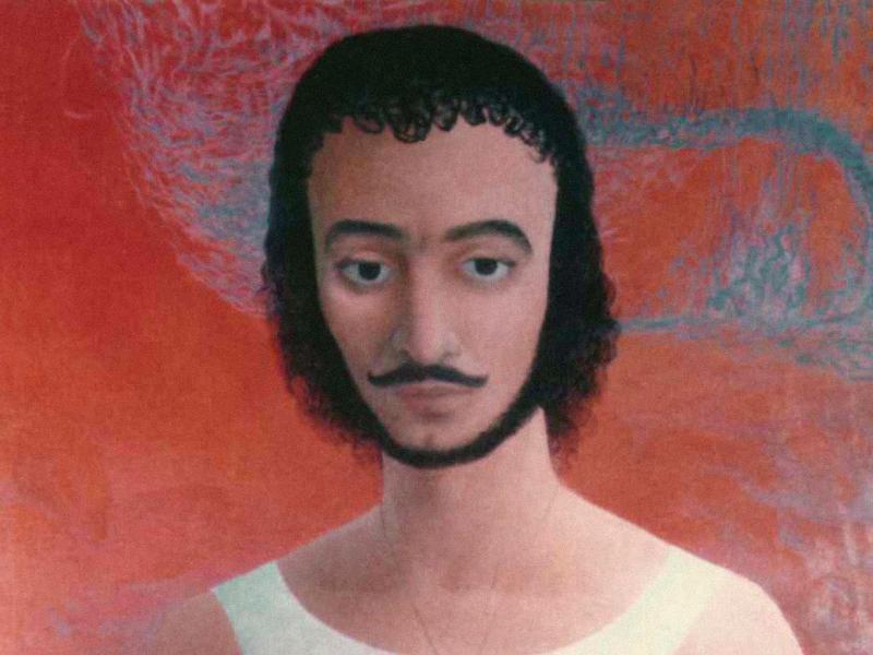 22. Janusz Eichler, Autoportret, ol., pł, fot. arch. AE
