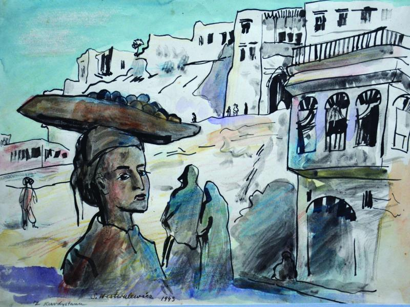 5. Stanisław Westwalewicz, Z Kurdystanu, akwarela, pap., 1943, wł. Muzeum Okręgowe w Tarnowie, fot. P. Drewniak