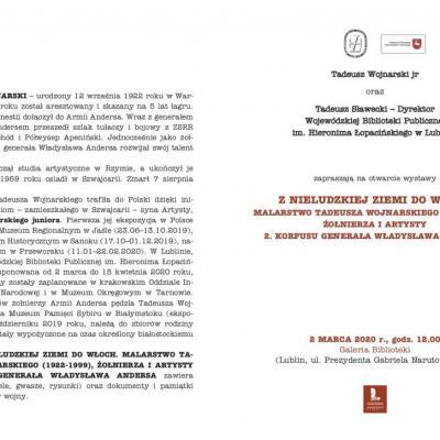 Zaproszenie na wystawę w Lublinie.
