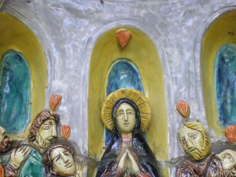 5. Adam Kossowki, Zesłanie Ducha Świętego, ceramika, ok. 1975, fot. JWS