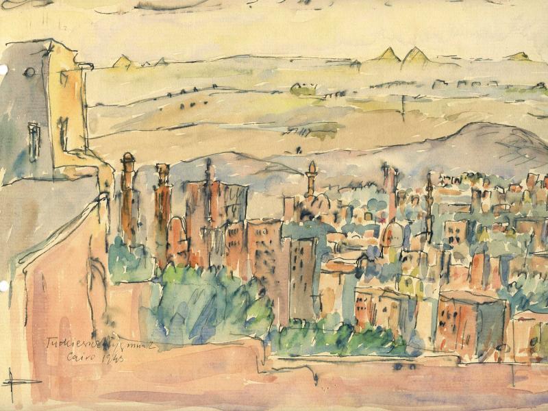 Zygmunt Turkiewicz, Kair, akw., pap., 1943, wł. Archiwum Emigracji UMK, fot. J.W. Sienkiewicz