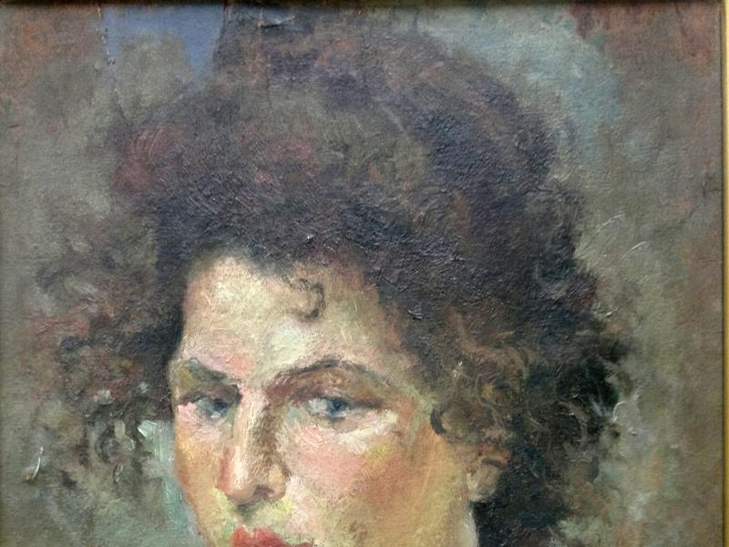 13. Rusiecka, Autoportret, olej, sklejka, 43x34, daty brak, fot. JWS, MUT