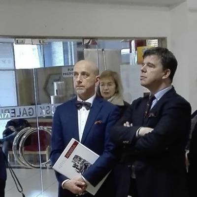 prof. Jan Wiktor Sienkiewicz z Prezesem TPE Pawłem Zarzyckim